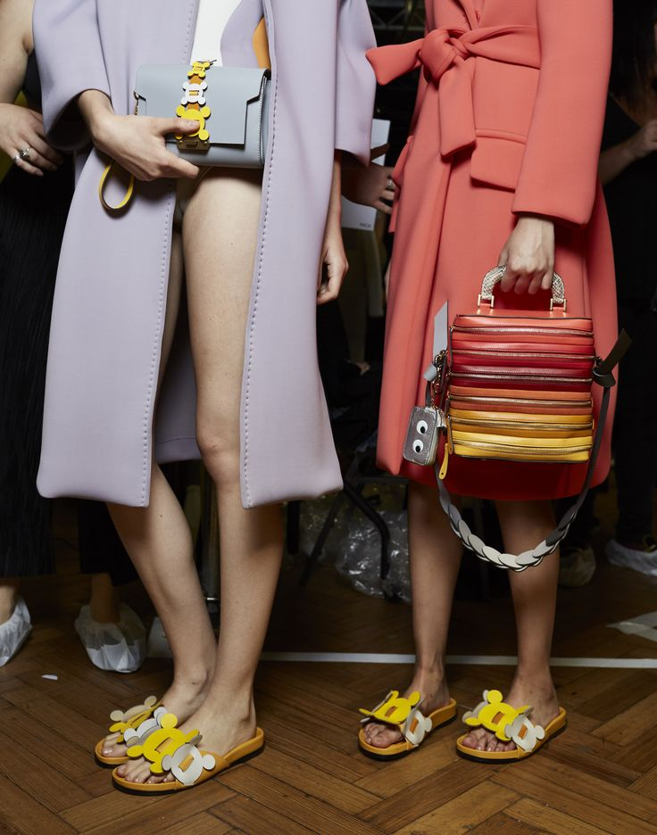 Backstage at Anya Hindmarch Spring Summer 2017. bag, сумки модные брендовые, bags lovers, http://bags-lovers.livejournal