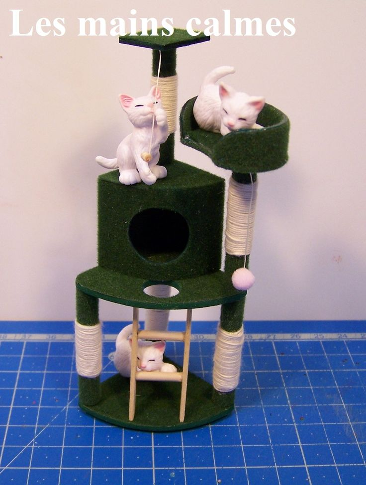 how to: miniature cat tree