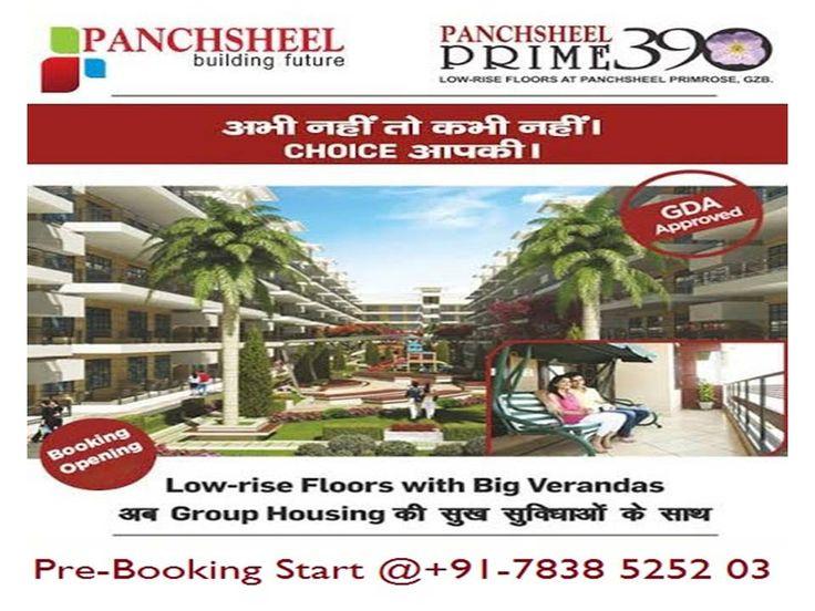 Panchsheel is now offering here 3 bedroom apartments in new launch prime 390 residential project in Govindpuram, Ghaziabad