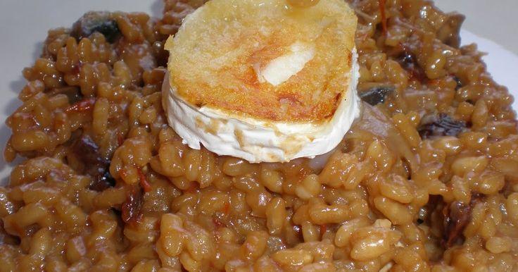 Hacía mucho tiempo que no hacía risotto y como tenía previsto hacer arroz  , pues me lancé a ello, eso si,  solo si tenía un buen parmesano,...