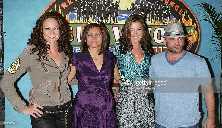 Jerri Manthey, Sandra Diaz-Twine, Parvati Shallow and Russell Hantz attend the 'Survivor: Heroes Vs Villains' finale reunion show at Ed Sullivan Theater on May 16, 2010 in New York City.