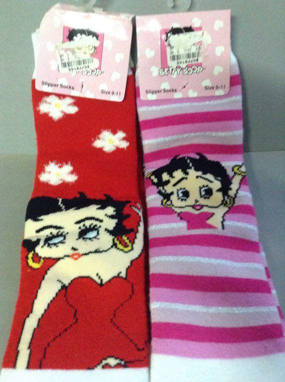 Betty Boop Slipper Socks NWT original pink by GirlyStuffByDeJaVu