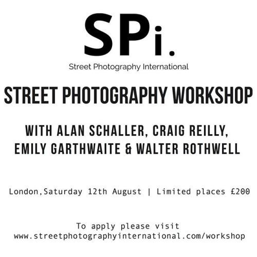 On the 12th August join SPi for a street photography workshop in #London. With a limited number of places available applicants will have all four members over the course of the day to offer a range of experience and individual insights into the genre from film to digital black and white to colour plus more. Four photographers one day. Click on the link in our bio to book your place. In association with @theclassiccamera via Street Photography Int. on Instagram - #photographer #photography…