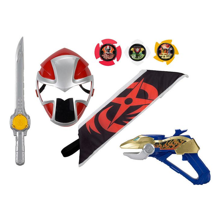 Become a Power Rangers Ninja Steel hero with this awesome training set! Prepare for battle action. Each set has a Ranger Mask, Ranger Bandolier, and 2 Ninja Weapons. The set also includes 3 Ninja Stars, which are included in many items across the Power<br><br>The Power Rangers Ninja Steel Red Ranger Hero Set Features:<br><ul><li>All in One role play experience</li><br><li>Includes: Ranger Mask, Ranger Bandolier, 2 Ninja Weapons, and 3 Ninja Stars</li></ul><br><br><br><br>Calling all Power…
