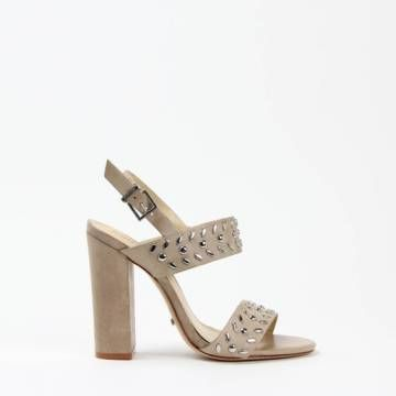 Schutz 0019 High Studded Sandal Oyster Leather