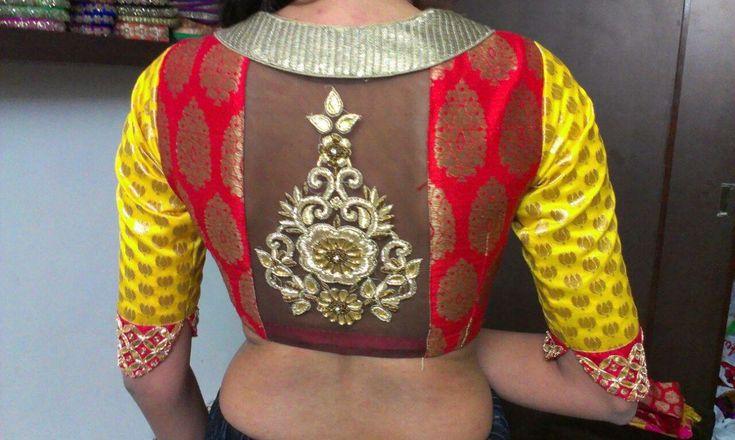 Designer Blouse for Designer saree.. get it done at http://mytailor.in/
