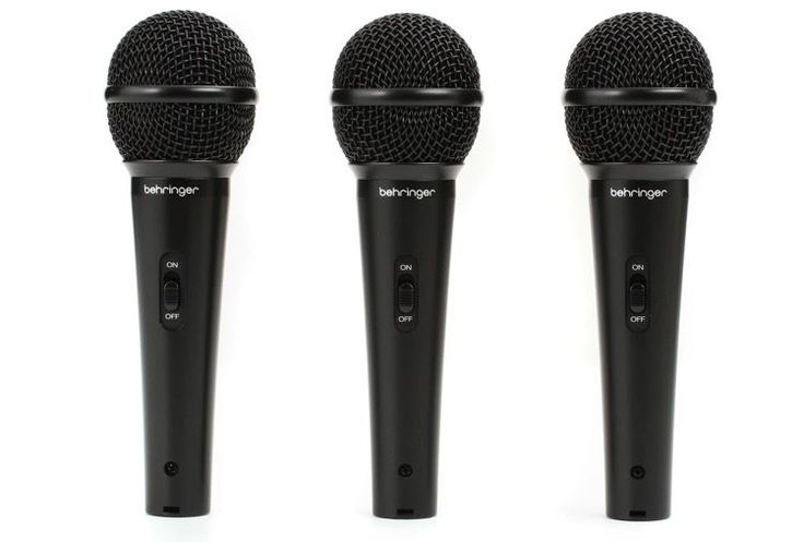Kids Microphone Set Performing Studio Drum Kit Karaoke DJ 3 Pack Vocal Gift NEW #Behringer