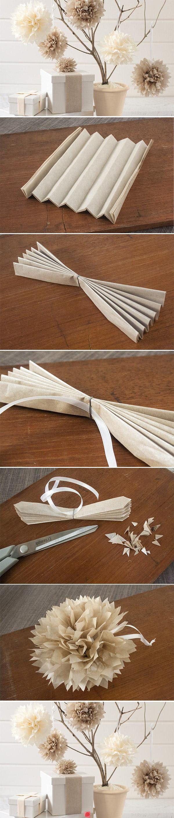 easy tutorial on tissue paper balls.