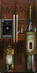 Old World Wine Custom Refrigerator Cover. Enjoy Home Appliance Discount.