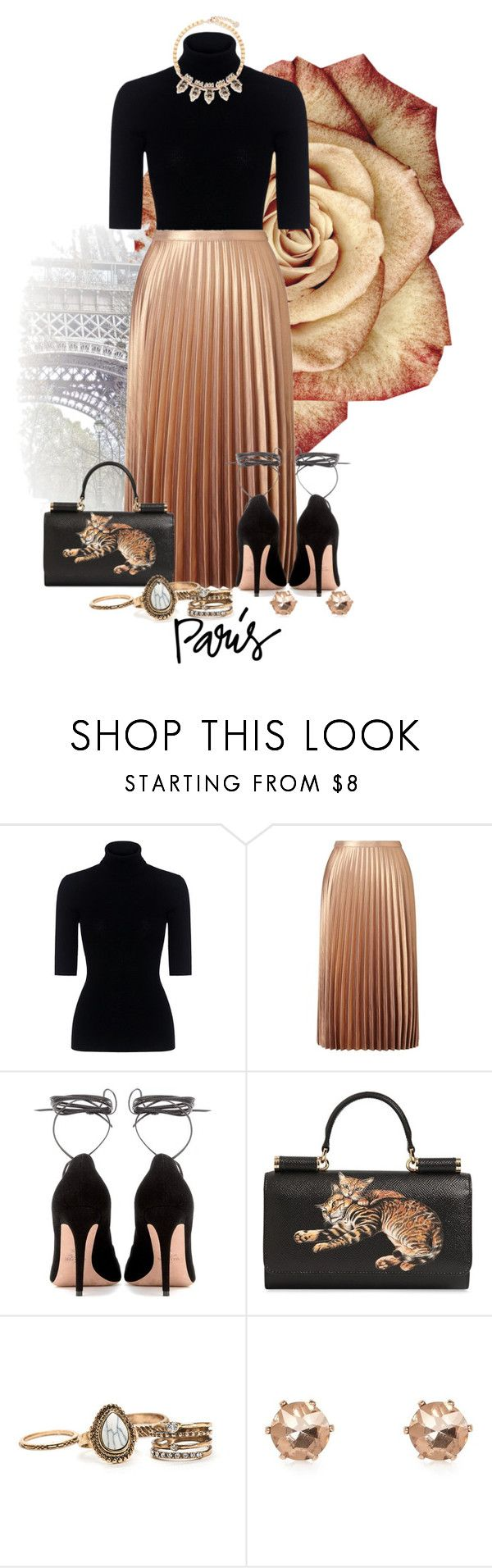 """""""Elle"""" by calvinrogers96 ❤ liked on Polyvore featuring Theory, Miss Selfridge, Valentino, Dolce&Gabbana, River Island and Anton Heunis"""