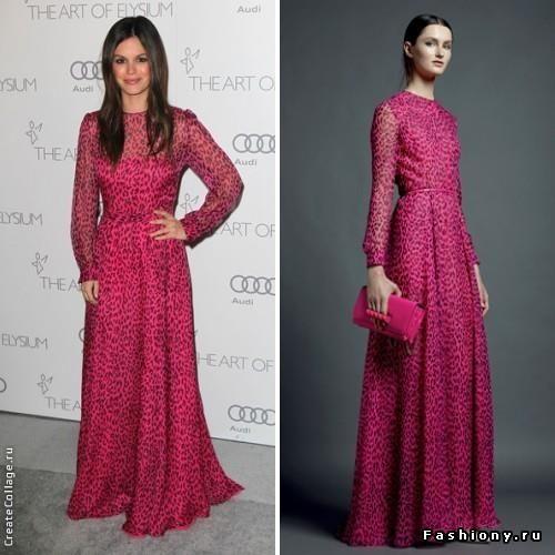 Розовое платье валентино