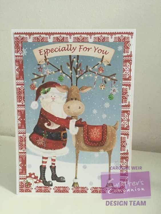 Card made using the Nordic Christmas Collection from Crafter's Companion…