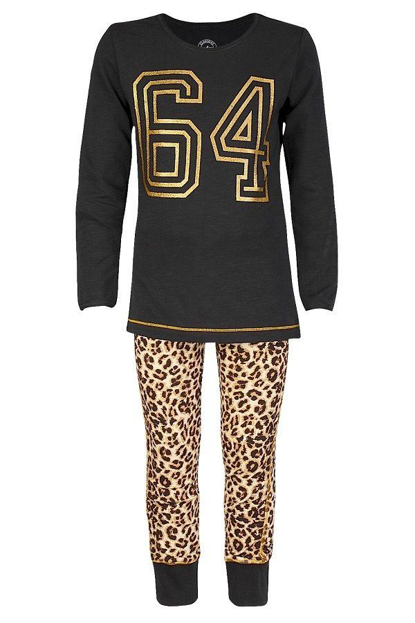 Claesen's pyjama voor meisjes 64 Brown Panther, bruin