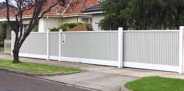 white picket fence & auto gate