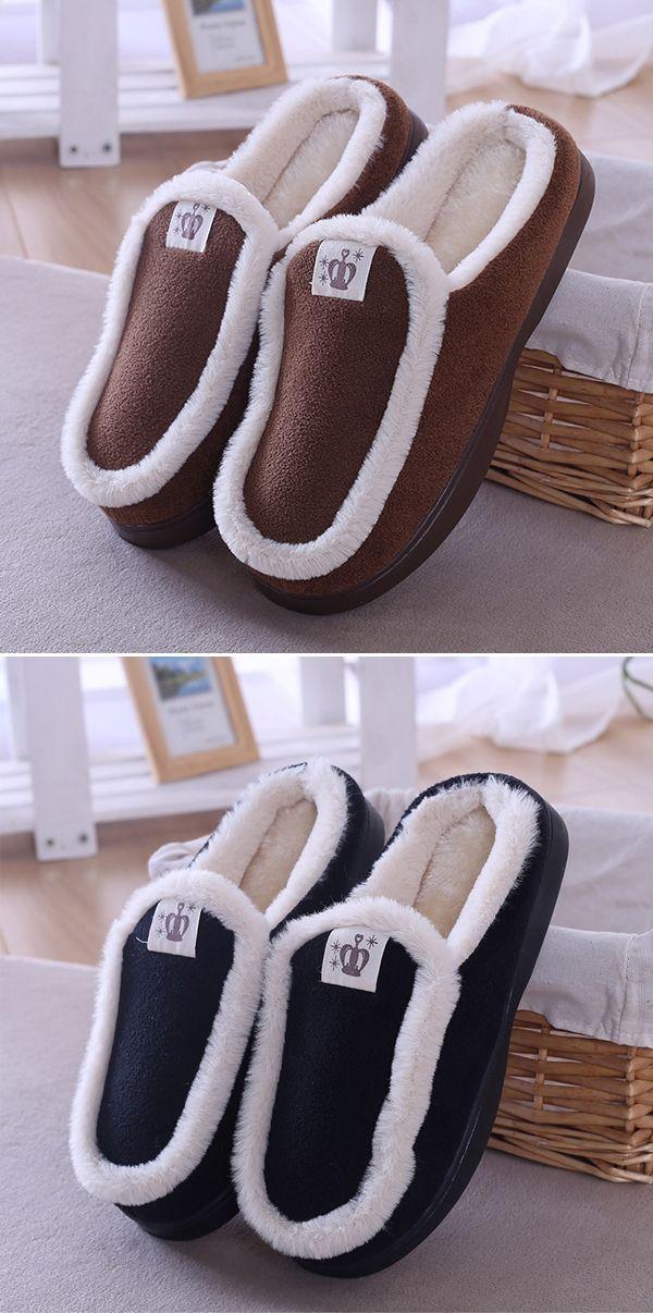 b7cfb0cffa US 14.99 Men Warm Plush Lining Shoes Home Slippers