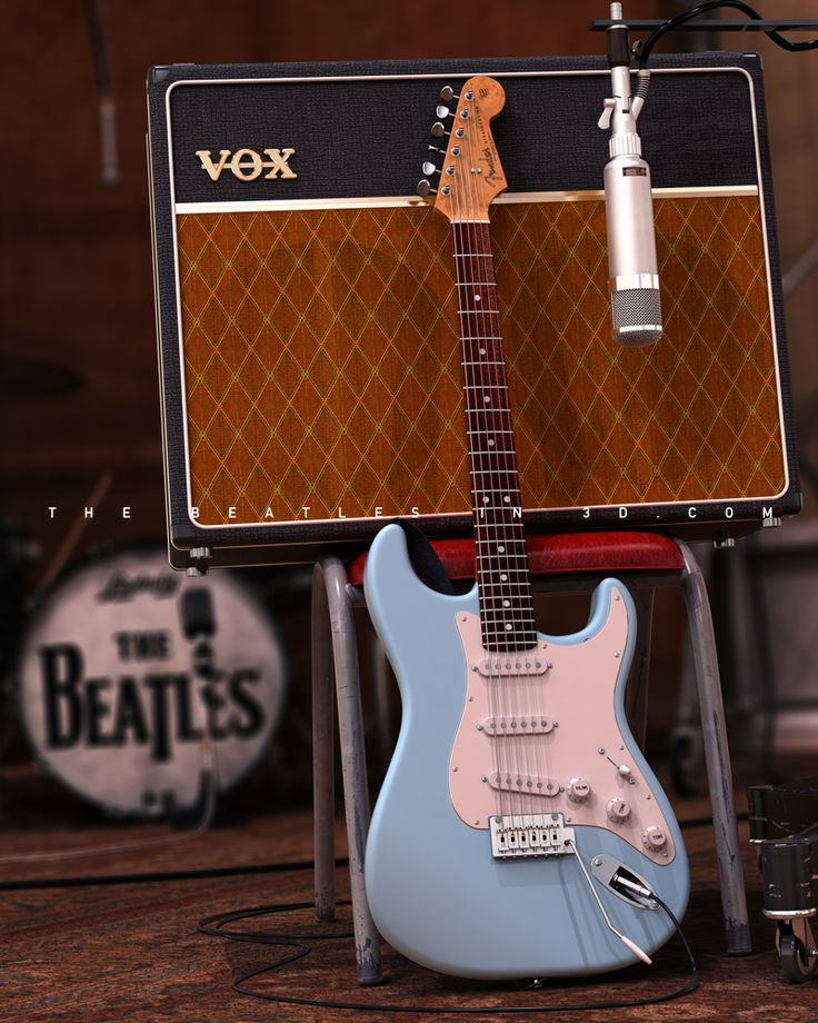 Beatles Guitars: 15 Best Images About The Beatles In 3D Art On Pinterest