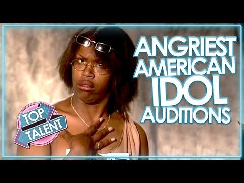 ANGRY & RUDEST AUDITIONS ON AMERICAN IDOL! - YouTube