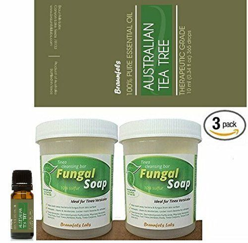 Buy the fantastic Bonus 3 Pack. Fungal Soap - Tinea Versicolor, Tinea Corporis, Foot Tinea (Athletes Foot), Tinea Cruris (Jock Itch) + Australian Tea Tree Oil 10mL Bottle here at Foot Fungus. Available to buy at a great price for a limited time only - don't lose out! Get Bonus 3 Pack. Fungal Soap - Tinea Versicolor, Tinea Corporis, Foot Tinea (Athletes Foot), Tinea Cruris (Jock Itch) + Australian Tea Tree Oil 10mL Bottle securely here today.