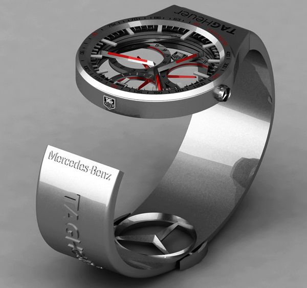 tag heuer formula 1 mercedes benz watch concept on concept mobiles watch this mercedes benz dtm pit crews dramatic air line accident 600x563