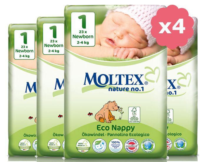 Maxi Pack Eco Couches Jetables Eco Nappy MOLTEX