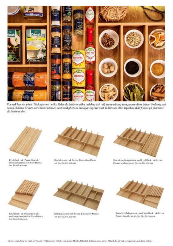 Välja mellan många olika hyllor för att organisera dina kryddor, för mer information kolla Bonial´s webbplats