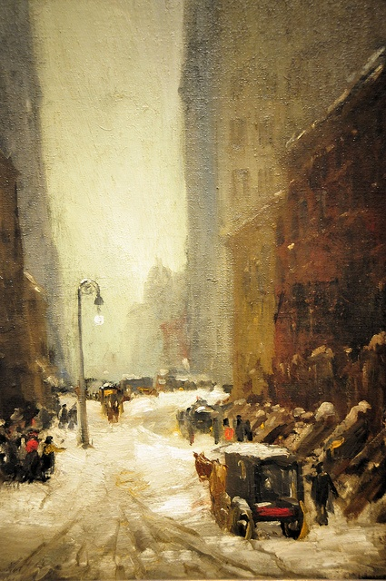 Robert Henri : Snow in New York, 1902. National Gallery of Art, Washington, DC.