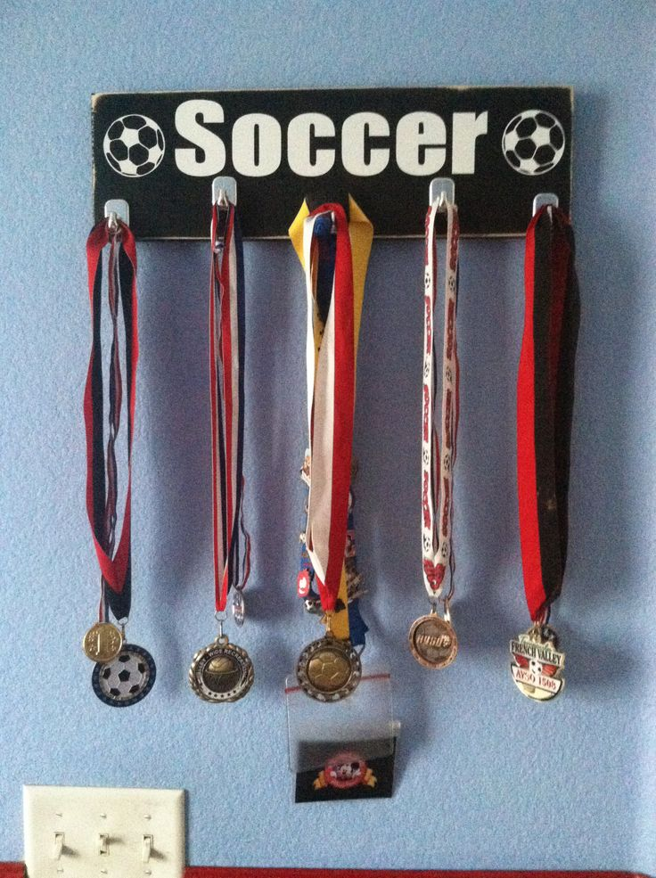 Soccer medal hanger!! Love it!