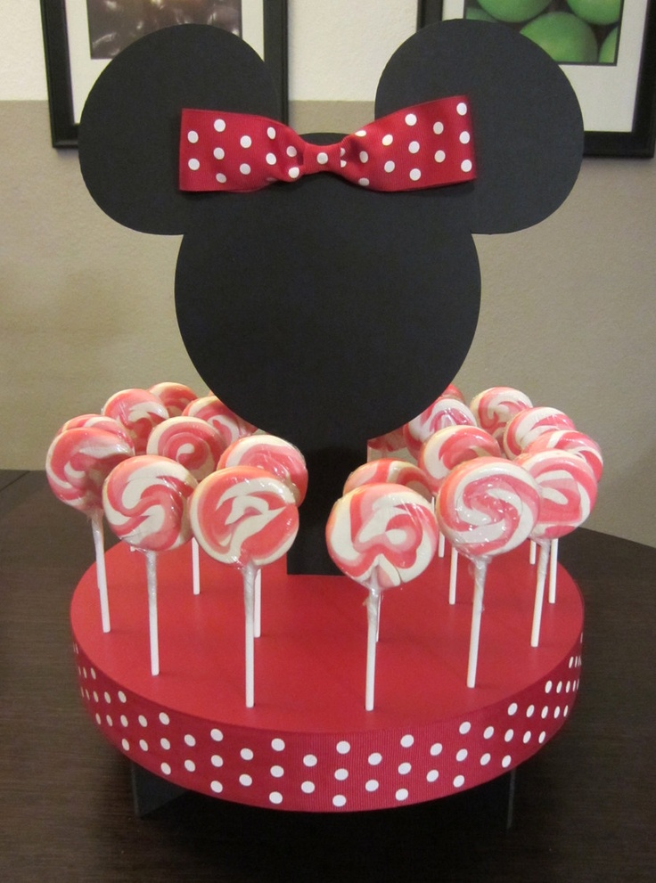 Mouse Inspired Cake Pop or Lollipop Stand (RED) Holds 24 Pops.. $20.00, via Etsy.