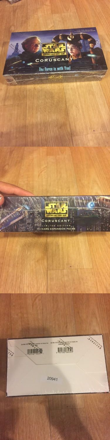 CCG Individual Cards 183454: Star Wars Ccg Coruscant Booster Box Limited Edition 11 Card Expansion Pack -> BUY IT NOW ONLY: $2000 on eBay!