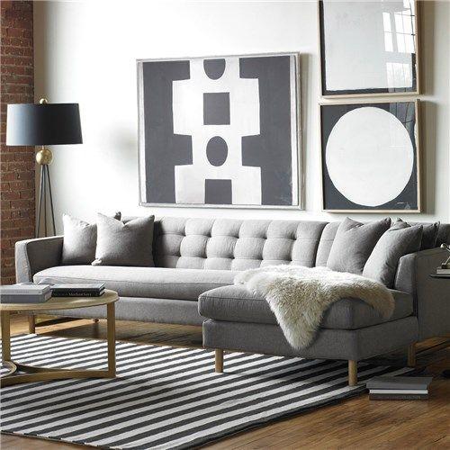 ZD Designer Spotlight | DwellStudio Furniture: DwellStudio Edward L Shaped Sectional: @Patricia Taylor Door