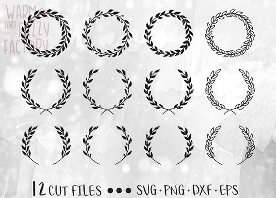 Laurel Wreath Svg Wreath Svg Floral Wreath Svg Laurel Etsy Wreath Drawing How To Draw Hands Laurel Wreath