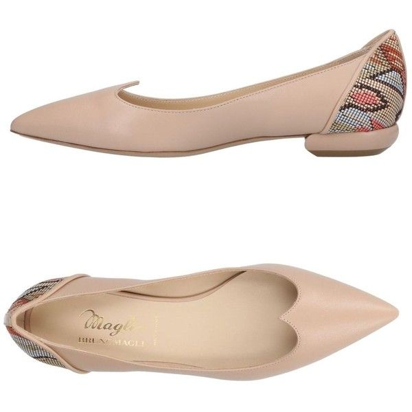 Magli By Bruno Magli Ballet Flats (1,220 SAR) ❤ liked on Polyvore featuring shoes, flats, beige, ballet pumps, beige flats, beige flat shoes, leather sole flats and ballerina pumps