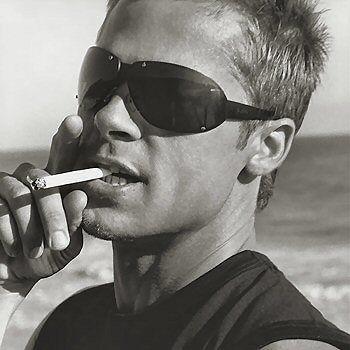 Brad PittBut, Sexy, Beautiful, Bradpitt, Hot, Eye Candies, Brad Pitt, People, Smoke