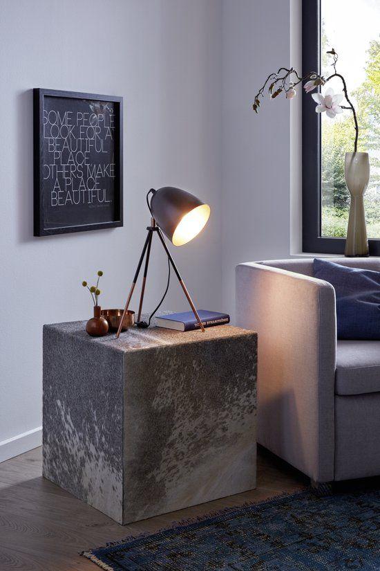 EGLO Vintage Chester - Tafellamp - 1 Lichts - Zwart - Koper