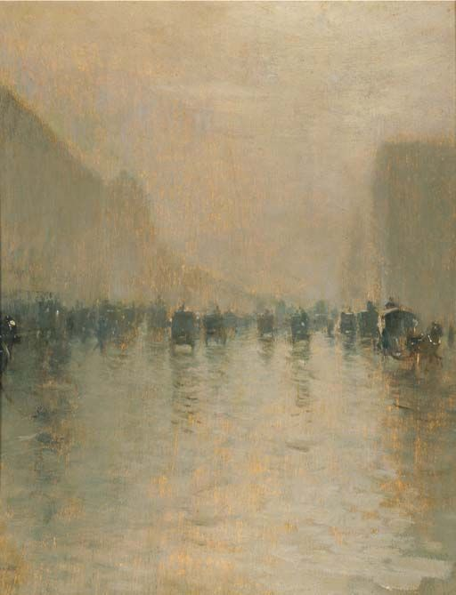 Foggy day in London,Giuseppe de Nittis. Italian (1846 - 1884)