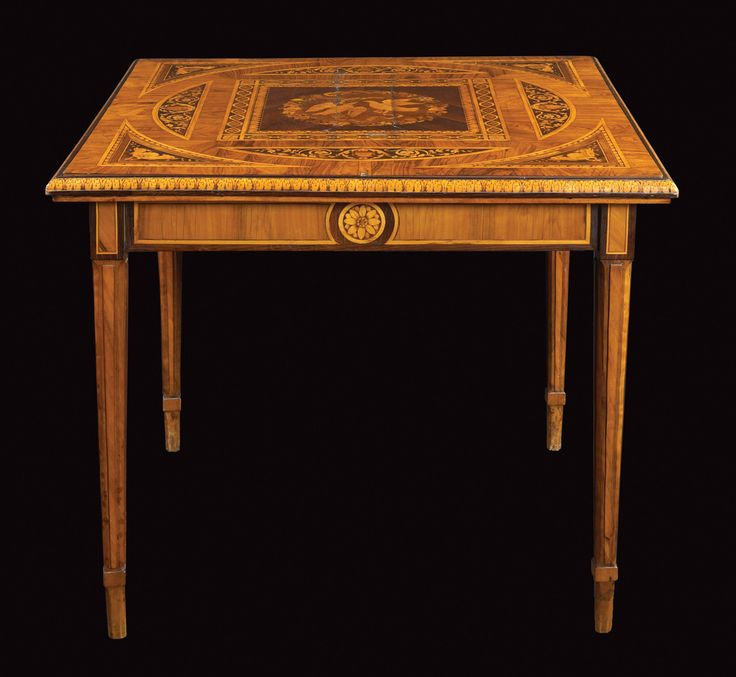 LOT 513 Giuseppe Maggiolini, workshop of, important table 18th century 80x120x71 cm.