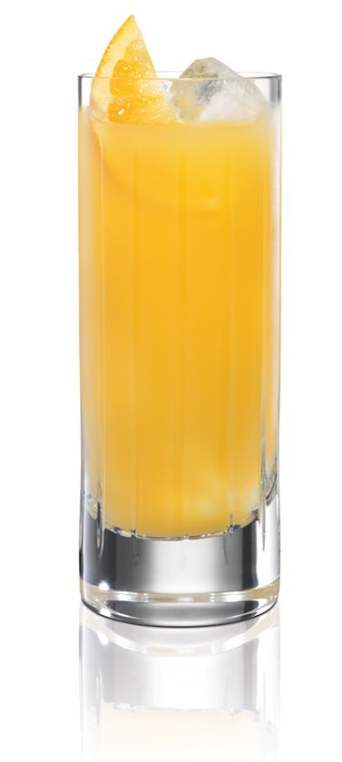 BacardÍ Tango. INGREDIENTS: 1 part BACARDÍ Tangerine, 3 parts orange juice. METHOD: Fill a highball glass with ice. Pour in ingredients and mix well.