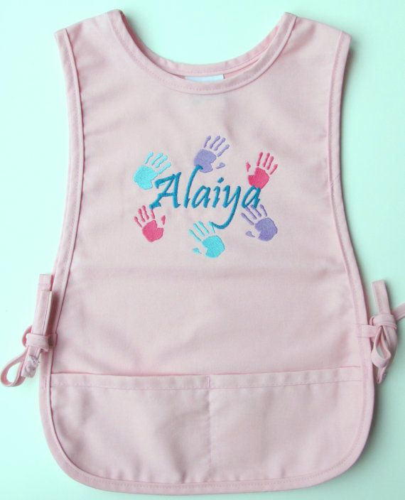 Personalized Kids Art Smock  Monogrammed Childs by aTwinkleStar, $25.00