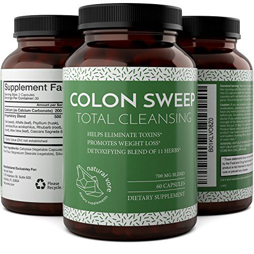 Potent And Pure Colon Cleanse Pills - Natural Psyllium Hu...