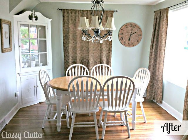 Super cute dining room makeover furniture refinishing for Cute dining room sets