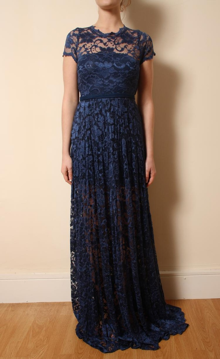 Midnight blue lace dress kristin wedding pinterest for Midnight blue wedding dress