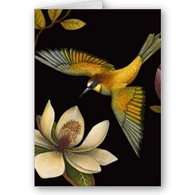 Chinoiserie Birds II - Greeting Card by littlerobot