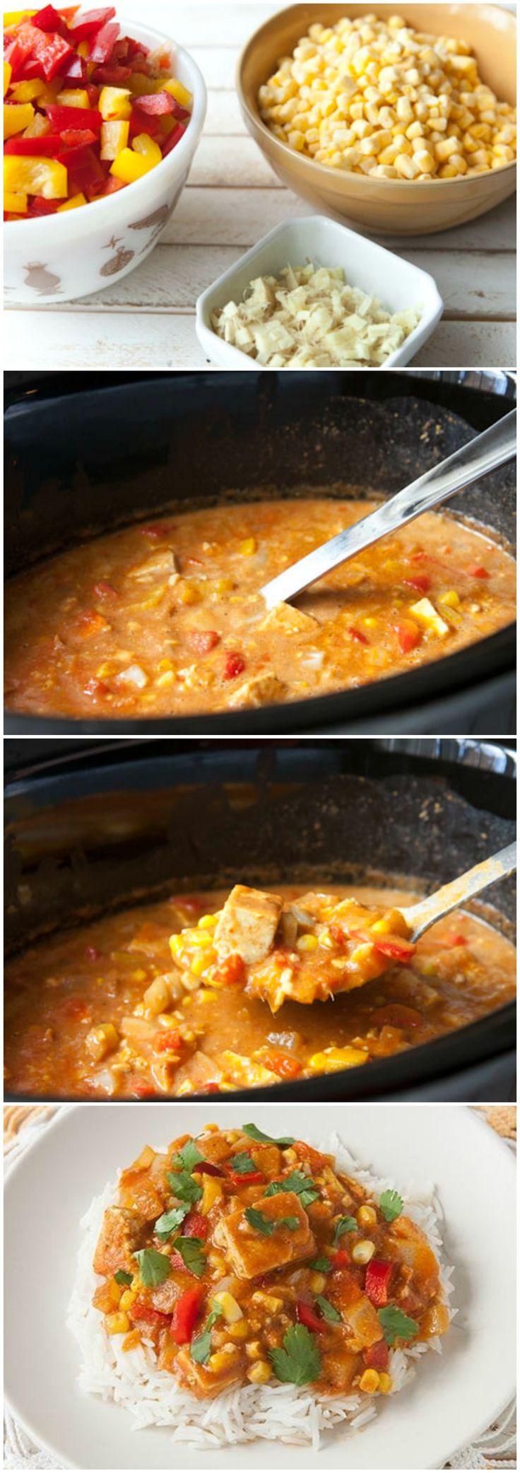 #SlowCooker Tofu Curry