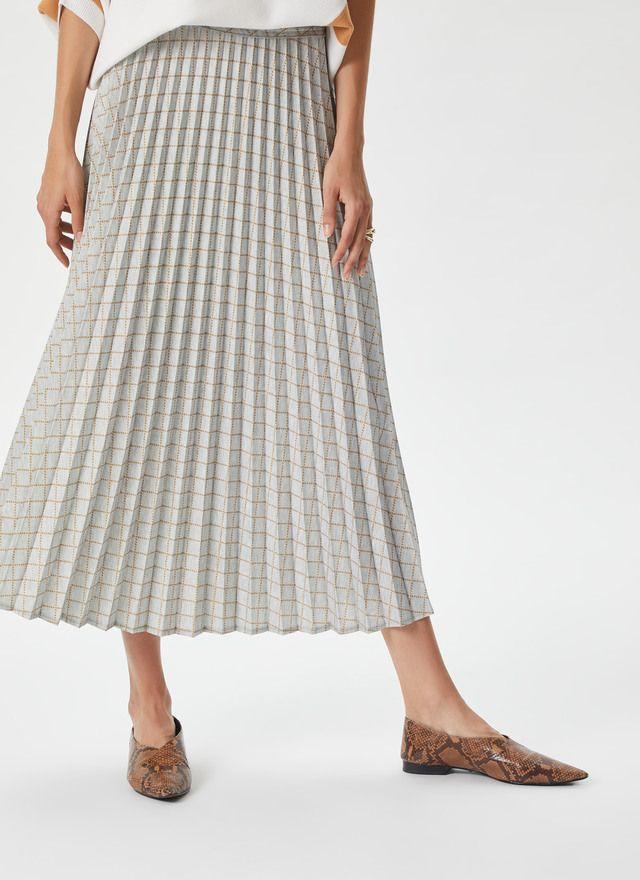 d66158927 ADOLFO DOMINGUEZ   Falda plisada de cuadros Gris/Marrón   Skirts ...