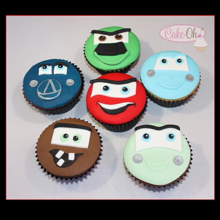 Cars Cupcakes - totally edible cars cupcake toppers