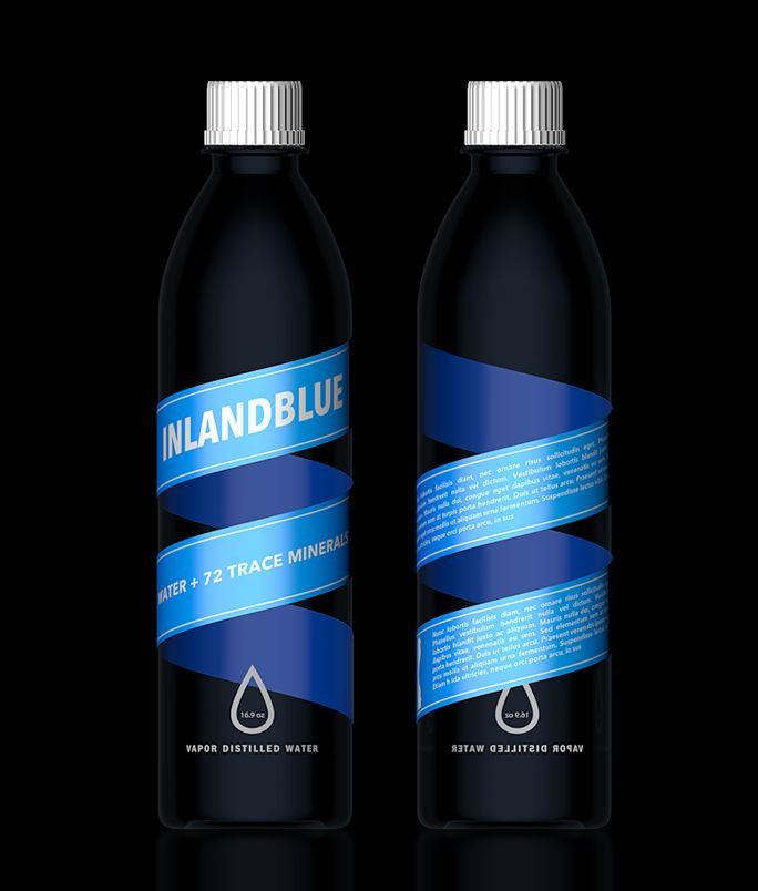 INLANDBLUE: Water Bottle, Bottle Labels, Bottlebig Finlandblu, Bottle Packaging, Graphics Design, Packaging Design Inspiration, Products Design, Bottle Water Packaging, Bottle Design