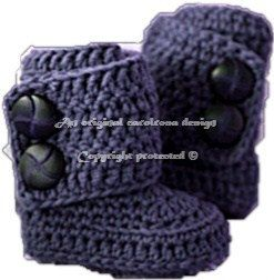 Crochet Baby Wrap Around Boots in 3 sizes - The Yarn Box