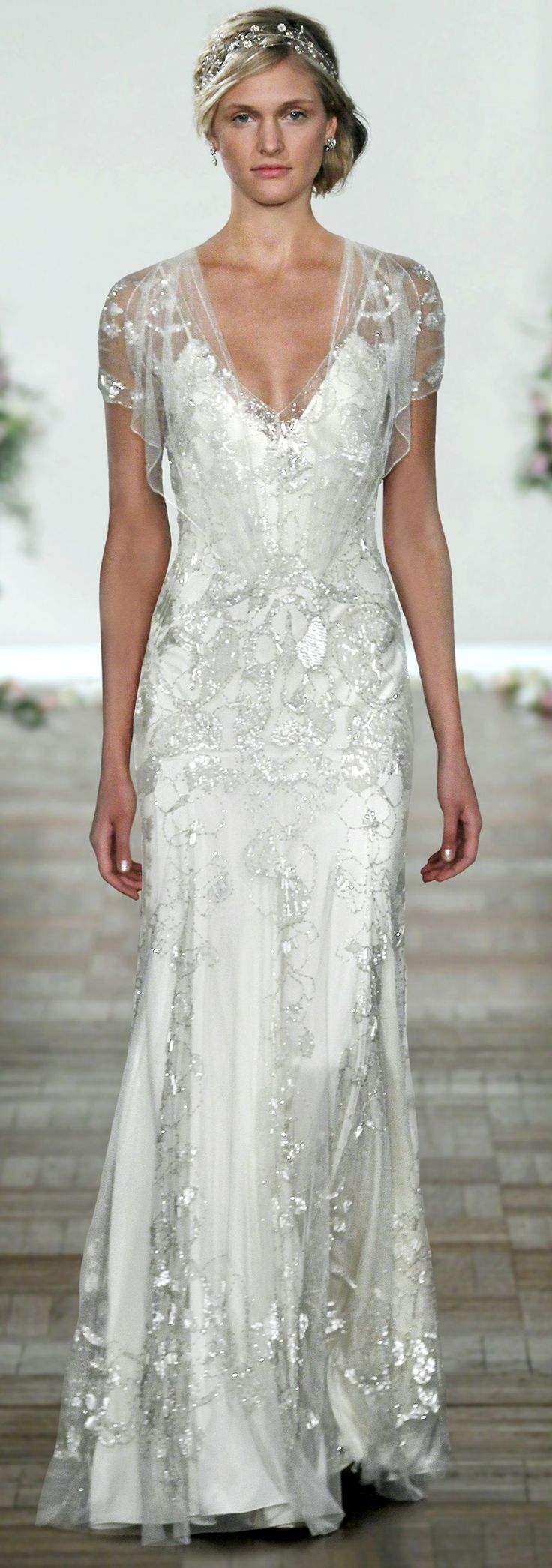 the sparkle & lace overlay on this dress is STUNNING! Jenny Packham Bridal | Spring Summer 2013 (front)