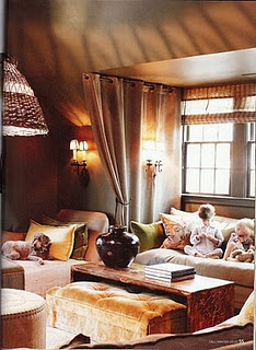 Heather Smith's design here is shown being used the way we hope our client's use their homes- child and pet freindly!