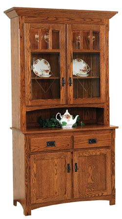 33% OFF Amish Furniture - Hand Crafted Shaker and Mission Furniture Online Outlet Store: Century Mission 2 Door Hutch: Oak